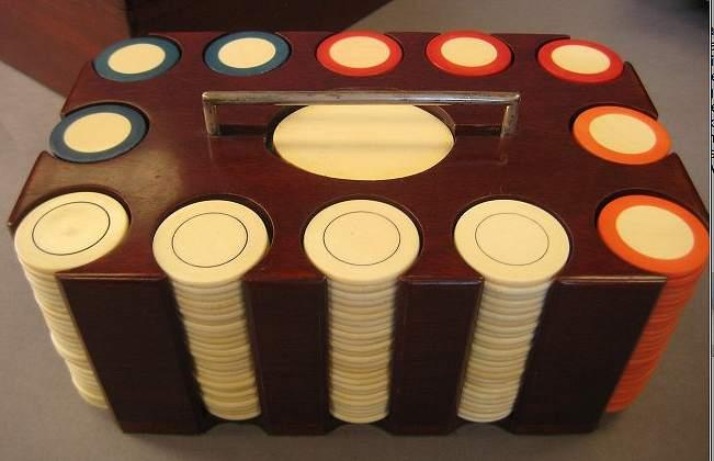 Ivory Poker Set Of J P Morgan
