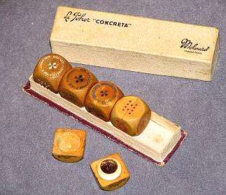 wood poker dice
